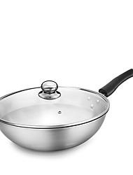 cheap -Stainless Steel Stainless Steel Flat Pan Multi-purpose Pot,32*9