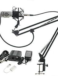 Недорогие -KEBTYVOR BM-800 Проводное Микрофон наборы Конденсаторный микрофон Тонкая прозрачная ткань Назначение ПК