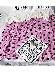 Недорогие -Супер мягкий,Жаккардовое переплетение Узор в горошек шерсть одеяла