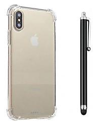 Недорогие -Кейс для Назначение Apple iPhone X / iPhone 8 / iPhone 8 Plus Защита от удара / Прозрачный Кейс на заднюю панель Однотонный Мягкий ТПУ для iPhone X / iPhone 8 Pluss / iPhone 8
