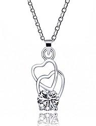 Недорогие -Жен. Сердце Классика Милый Мода Ожерелья с подвесками Синтетический алмаз Искусственный бриллиант Сплав Ожерелья с подвесками ,