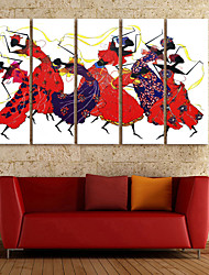 cheap -Canvas Print Modern, Five Panels Canvas Vertical Print Wall Decor Home Decoration