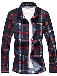 cheap -Men's Cotton Shirt - Plaid