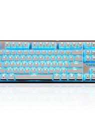 abordables -AJAZZ ajazz-ak40 Câblé rétro-éclairage monochromatique Commutateurs noirs Commutateurs bleu 87 Clavier mécanique Rétro-éclairé