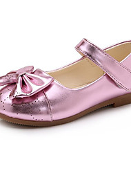 cheap -Girls' Shoes PU Winter Fall Flower Girl Shoes Comfort Flats for Casual Gold Black Pink