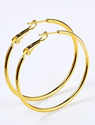 cheap -Women's Hoop Earrings Rock Fashion Gold Plated Circle Jewelry Prom Club