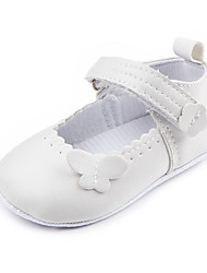 cheap -Girls' Shoes Leatherette Spring & Summer Comfort / First Walkers / Crib Shoes Flats Appliques / Magic Tape for White / Black