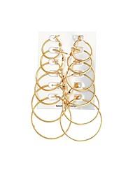 economico -Per donna Orecchini a cerchio , Da cerimonia Casual Abbigliamento Lega Circolare Gioielli Quotidiano