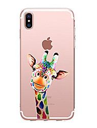 billige -Til iPhone X iPhone 8 Etuier Transparent Mønster Bagcover Etui Dyr Blødt TPU for Apple iPhone X iPhone 8 Plus iPhone 8 iPhone 7 Plus