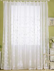Недорогие -занавески шторы две панели спальня цветочные вышивка полиэстер смесь