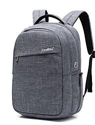 abordables -Paño de nylon impermeable del ordenador portátil de 15.6 pulgadas con la mochila del bolso del cuaderno del puerto de carga del usb para