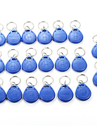 cheap -20pcs125Khz RFID Smart Card Read and Rewriteable Tag Keyfobs Keychains Access Control
