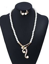 cheap -Women's Jewelry Set Imitation Pearl Fashion European Party Formal Alloy 1 Necklace Earrings