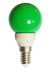Недорогие -1pc 0,5 w 15-25 lm e14 светодиодные шарики с глобусом g45 7 светодиодные бусины с наклонным покрытием декоративные зеленые 100-240 v
