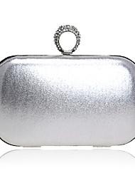 baratos -Mulheres Bolsas Courino Bolsa de Festa Botões / Detalhes em Cristal Prata / Vermelho / Azul Real