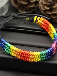 Недорогие -Жен. Wrap Браслеты - На каждый день Классический Цвет радуги Браслеты Назначение Подарок Повседневные