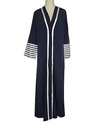 preiswerte -Mode Einteilig Kleid Frau Fest / Feiertage Halloween Kostüme Blau Gestreift