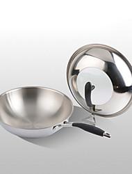 cheap -Stainless steel Plastic Round Flat Pan Multi-purpose Pot,3