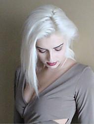 abordables -Peluca Lace Front Sintéticas Recto Corte Bob Pelo sintético Peluca afroamericana Blanco Peluca Mujer Corta Encaje Frontal