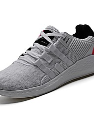 cheap -Women's Shoes Fabric / PU(Polyurethane) Spring / Fall Comfort Athletic Shoes Running Shoes Round Toe Gray / Light Grey / Black / White