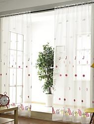 preiswerte -Schlaufen für Gardinenstange Ösen Schlaufen Zweifach gefaltet plissiert Window Treatment Kinder und Teenager, Stickerei Blumen