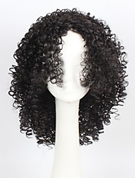 Natual Black Color Hair Synthetic Afro Curly Short Cosplay Wig for Women Party Wig