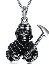 abordables -Hombre Calavera Tiger Europeo Rock Joyería Destacada Collares con colgantes , Acero inoxidable Collares con colgantes , Mascarada