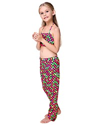 cheap -The Little Mermaid Skirt Kid Halloween Festival / Holiday Halloween Costumes Red Rainbow Mermaid
