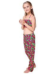 cheap -The Little Mermaid Skirt Children's Halloween Festival / Holiday Halloween Costumes Rainbow Red Mermaid Halloween