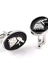 cheap -Circle Silver Cufflinks Alloy Dresswear / Fashion Men's Costume Jewelry For Daily / Formal