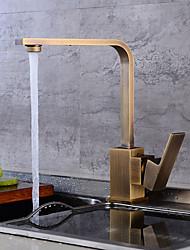 cheap -Antique Tall/High Arc Centerset Widespread Ceramic Valve Single Handle One Hole Antique Copper, Kitchen faucet