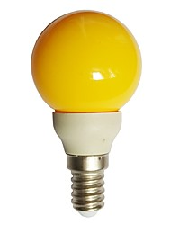 cheap -1pc 0.5W 15-25lm E14 LED Globe Bulbs G45 7 LED Beads Dip LED Decorative Yellow 100-240V