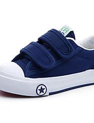 preiswerte -Jungen Schuhe Leinwand Frühling Herbst Komfort Sneakers Walking Klettverschluss für Normal Weiß Schwarz Rot Blau