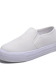 abordables -Femme Chaussures Polyuréthane Printemps / Eté / Automne Confort Sabot & Mules Talon Bas Bout rond pour Blanc / Noir