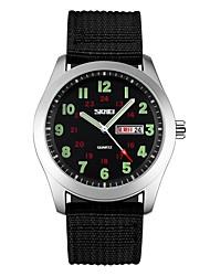 baratos -SKMEI Casal Crianças Relógio de Pulso Relógio Esportivo Relógio Casual Chinês Quartzo Calendário Impermeável Relógio Casual Náilon Banda