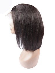 cheap -Remy Human Hair Lace Front Wig Wig Brazilian Hair Straight With Baby Hair 130% Density Natural Hairline Women's Medium Length / Long Human Hair Lace Wig
