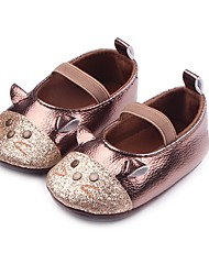 cheap -Boys' Shoes Leatherette Spring / Fall Comfort / First Walkers / Crib Shoes Flats Appliques / Gore for Silver / Brown / Party & Evening