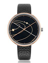 cheap -KEZZI Women's Quartz Wrist Watch Japanese Casual Watch PU Band Casual Elegant Fashion Black Blue Grey Clover