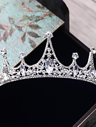 cheap -Alloy Tiaras with Rhinestone Crystal 1pc Wedding Party / Evening Headpiece