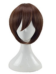 cheap -Synthetic Hair Wigs Straight Layered Haircut Capless Cosplay Wig Short Brown