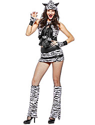 cheap -Animal One Piece Dress Cosplay Costume Female Halloween Carnival New Year Festival / Holiday Halloween Costumes Black Color Block Animal