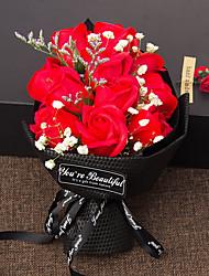 abordables -Fleurs artificielles 1 Une succursale Luxe / Soirée Roses Fleur de Table