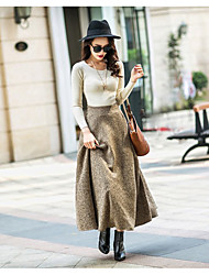 cheap -Women's Casual/Daily Midi Skirts,Simple Swing Polyester Solid Winter Spring/Fall