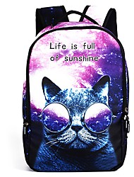 cheap -Bags Polyester Backpack Pattern / Print / Zipper for Outdoor White / Purple