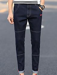 cheap -Men's Simple Jeans Pants - Solid Colored