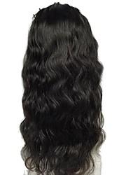 levne -Přírodní vlasy Se síťovanou přední částí / Krajka vpředu Paruka Brazilské vlasy Vlnité / Přírodní vlny Dětské vlasy 130% Hustota Přírodní vlasová linie / Střední část / 100% Panna Dámské Středn