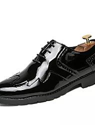 Недорогие -Муж. обувь Полиуретан Весна Лето Современный Классический и неустаревающий Мода Туфли на шнуровке Шнуровка для Вечерние Бизнес