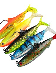 cheap -5 pcs Fishing Tools Shad Jig Head Soft Bait Plastic Generic Classic Sea Fishing Lure Fishing