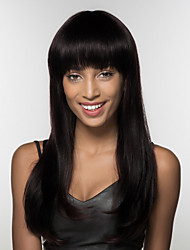 cheap -Human Hair Capless Wigs Human Hair kinky Straight Natural Hairline Long Machine Made Wig Women's