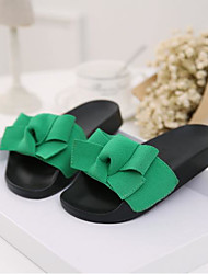 cheap -Women's Shoes Rubber Summer Comfort Slippers & Flip-Flops Flat Heel Open Toe for Casual Pink Green Black